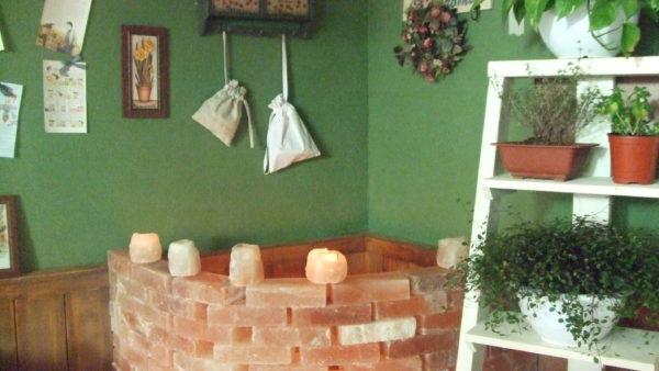 소금벽돌로 만든 구들장의 모습