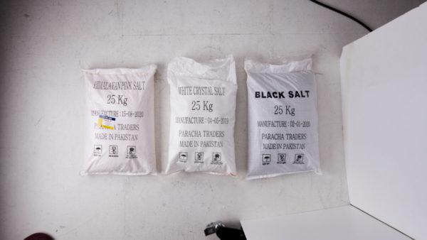 25KG 벌크 형태의 소금 자루